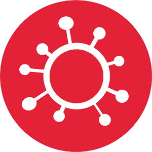 Wire frame icon image of COVID-19 Virus